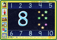 ABC mouse teaches counting through games