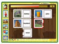 ABC mouse and word match up games