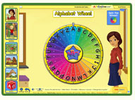ABC mouse phonics game: Alphabet Wheel