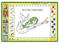 ABC mouse - M is for Mermaid Painting