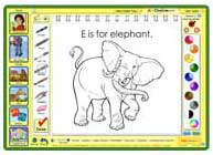 ABC mouse E is for Elephant painting