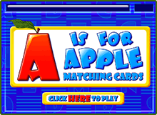 ABCmouse Teaches Kids The Alphabet Preschool Game A Is For Apple Matching Cards