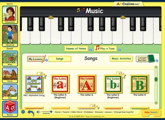 ABC mouse music and songs